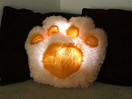 LED Doggy Paws Pillow!