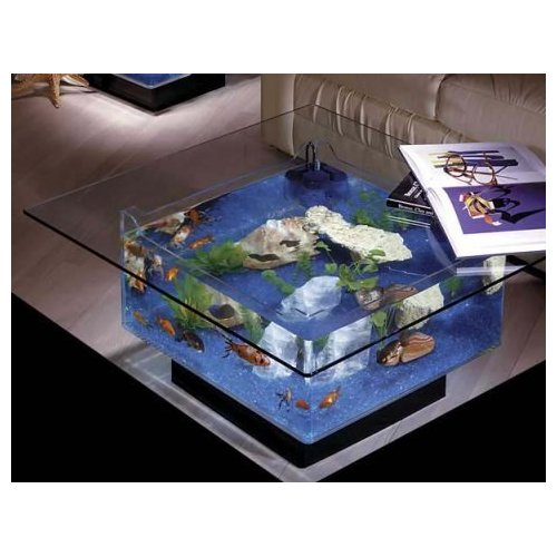 table aquarium fish tank kids art decorating ideas