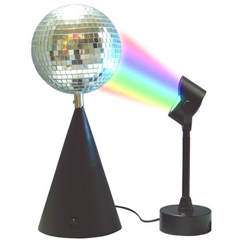 Disco Mirror Ball with Light