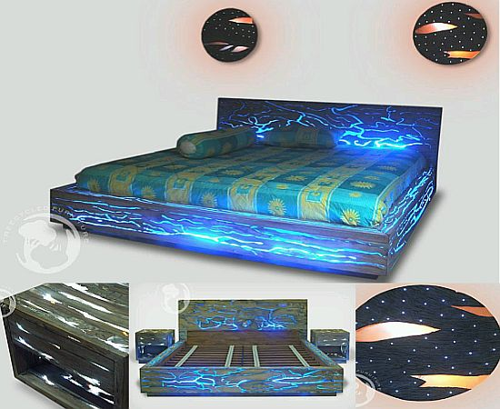 Find a light glow in the dark wall plate inserts for Lighted platform bed