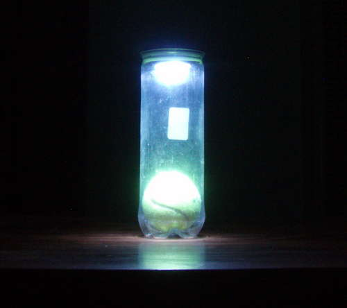 LED DIY U2013 How To Make A Tennis Ball Bottle LED Lamp!
