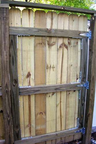 Backyard Diy How To Build A Fence Gate