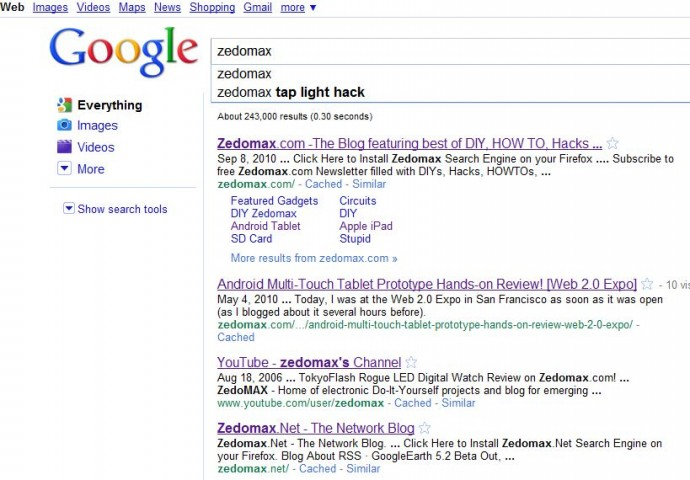 google-instant-search