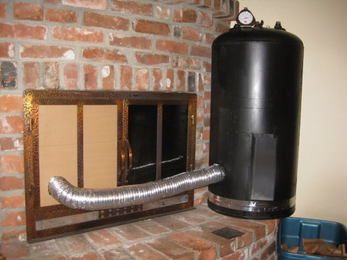 Water Heater Hack How To Make A Wooden Stove Out Of A Water Heater