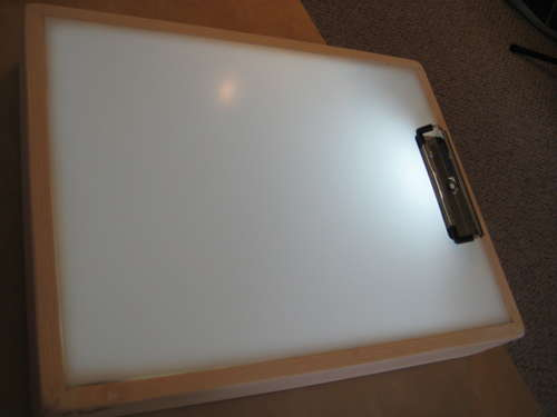 how to make a diy sketch tracer light box. Black Bedroom Furniture Sets. Home Design Ideas