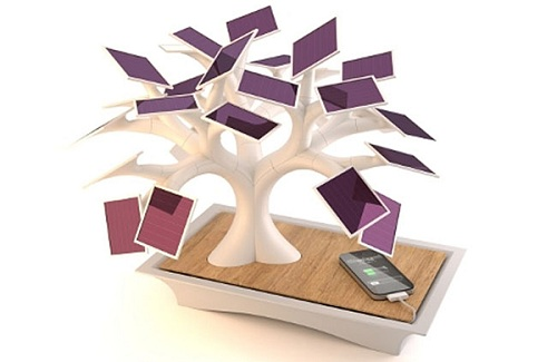 electree solar bonsai charger by vivien muller Charge Your iPhone Using A Solar Tree!